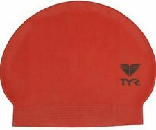 New TYR Latex Swim Cap - Color RED