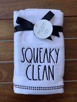 Rae Dunn Bathroom Wash Towels SQUEAKY CLEAN Farmhouse New #1149