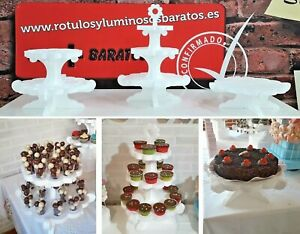 PACK 3 BANDEJAS PARA MESA DE DULCE, CUP CAKE, CANDY BAR Y BANDEJA  CANDY BUFFET