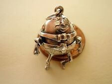 Beautiful Argento Sterling Humpty Dumpty-SOLDATO apertura Charm Charms
