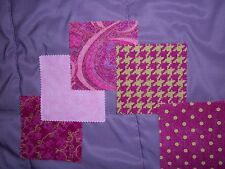 """25~~5"""" ~Squares   Bright Pink Houndstooth, Swirl, Dots, Marble  5 Each Design"""