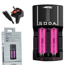 Oficial Efest ® Soda Twin Bay Cargador De Batería | 18650 | Reino Unido stock 20700 21700