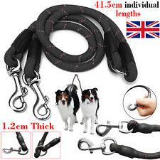 2 Way Double Dog Coupler Lead Twin Walk Splitter Pet Puppy Couple Walking Leash