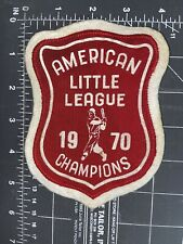 Vintage American Little League Baseball 1970 Champions Red Patch Shield Youth LL