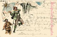 AK Künstlerkarte, Künstler Ernst Platz, Alpine Postkarte Nr. 3, 1900, 13/12