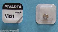 3 x VARTA Uhrenbatterie V321 SR616SW 16mAh 1,55V V 321 SR65 Knopfzelle