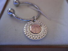 Clogau Sterling Silver & 9ct Rose Gold Ryder Cup Golf Key Ring RRP £199.00