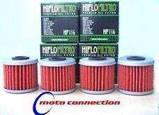 HONDA CRF450 CRF 450 05-08 OIL FILTERS (PACK OF 4) HI-FLO HF116 OIL FILTER x 4