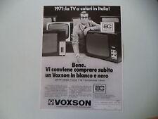 advertising Pubblicità 1969 TELEVISORI VOXSON