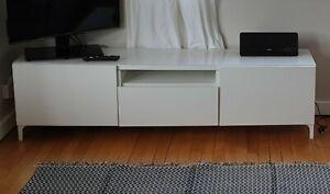 IKEA Besta Burs TV Unit High Gloss White