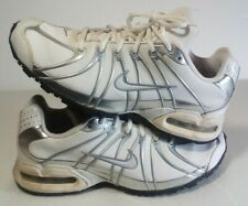 Womens Nike Max Air Running Shoes Size 8 White Silver