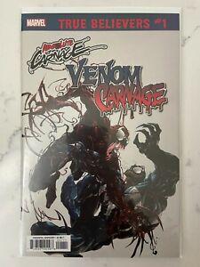 Absolute Carnage Venom vs Carnage #1 2019 True Believers NM