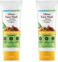 Mamaearth Ubtan Natural Face Wash for Dry Skin with Turmeric & Saffron(100mlx2)