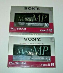 Pack 2 cintas Sony video 8 Metal MP 30 min. PAL / Secam - nuevo