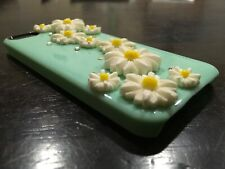 VINTAGE iPHONE 5 DAISY FLOWERS & SEQUINS RAISED MOTIF HARD PHONE COVER USED