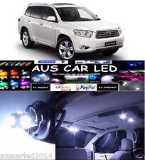 Toyota Kluger 2008-2012 White Interior LED Light Upgrade Kit 8pcs