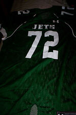 NEW!  UNDER ARMOUR  MENS FOOTBALL JERSEY SHIRT NY JETS #72-GREEN-LARGE