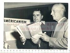 ORIGINAL PRESSEFOTO: BRAINSTORMING - CARTER L BURGESS & GENERAL JOHN E HULL