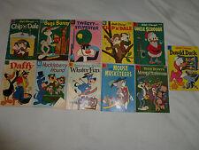 VINTAGE WALT DISNEY DELL COMIC BOOK LOT HUCKLEBERRY HOUND BUGS BUNNY CHIP N DALE