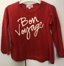 Seed Heritage Boys Girls Kids Size 2-3 Red Bon Voyage Tee Top EUC