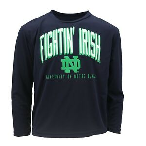 Notre Dame Fighting Irish Official NCAA Kids Size Long Sleeve Athletic Shirt New