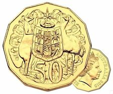 **2015 Australian 50th Anniversary gold plated 50 cent coin**