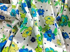"""Swiss Dot Floral Allover Print 100% Cotton Raised Woven Dots 54"""" Wide Fabric BTY"""