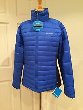 Columbia Powder Pillow Hybrid Jacket Puffer Lightweight Blue Navy L $125 NWT