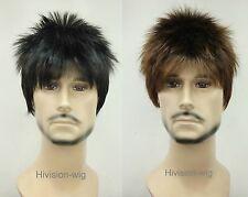 Short  Men Wig Menfolk Men Male Daily Wear Hair Full Straight wigs Hivision #332