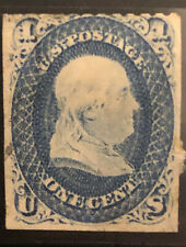 Stamp Usa 1 Cent 1851 -56 Used Extremely Rare