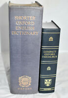 Oxford Shorter English Dictionary (Thumb Indexed) & Oxford Compact Thesaurus~F/S