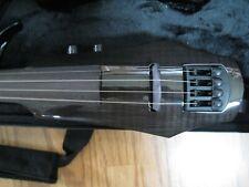 NS Design WAV-4 Electric 4-String Transparent Black Violin with Hard Case