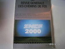 **a RGCF chemins de fer 05/88 SNCF 2000 : Premières réflexions stratégiques
