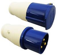 Hook Up Plug and Coupler Socket 16A  IP44 – Caravan Motorhome Camping industrial