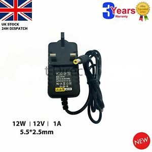 12V 1A 12W Adaptor Charger Power Supply for SIP Rescue Pac 3000 Booster Pack