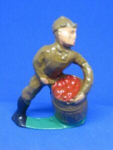Vintage Manoil Lead Figure #41/36 Man Juggling Apple Barrel - Train Layouts