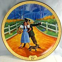 Bradford Excchange Wizard of Oz Road to Oz Pleasant Down That Way Plate EUC FS