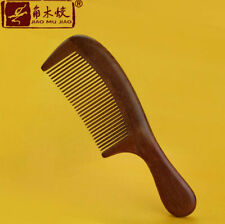 Natural Red Sandal Wood Comb Fine Toothed Comb Hair Care Hairbrush Massage brush