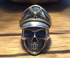 General Skull Ring 925 Sterling Silver  Adjustable