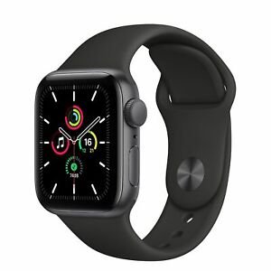Brand New APPLE Watch SE Space Grey Aluminium With Black Sports Band 40MM GPS