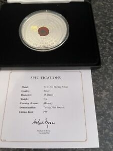 Rememberance Day Solid Silver Proof 5oz Coin 2020 Denomination £25