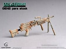 CRAZY DUMMY 1/6 MK46 MOD1 Gen2 Para Stock - Camo for Action Figure #CD-75002-6