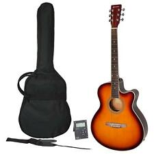 New Sanchez Guitar Pack Small Body Steel String Acoustic Electric for Beginner