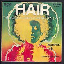HAIR Comédie Musicale Version originale USA AQUARIUS / HAIR 45T RCA 49.602