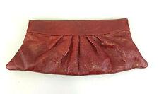 Lauren Merkin Clutch Handbag Red Patent Leather Large Evening Bag