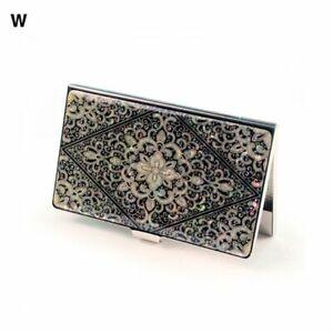 Business Name Card Holder Pearl Art Dia Arabesque Stainless Steel case