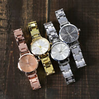 Women's Casual Quartz Stainless Steel Band Marble Strap Watch Analog Wrist Watch