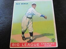 1933 Goudey # 141 Ray Benge Card (B17) Brooklyn Dodgers