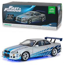 1999 Nissan Skyline GT-R R34 + Neon Lights Fast & Furious 1:18 GreenLight 19041