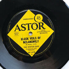 """STATUS QUO BLACK VEILS OF MELANCHOLY(AUS) 7"""" 1968 WITH TO BE FREE - nice copy in"""